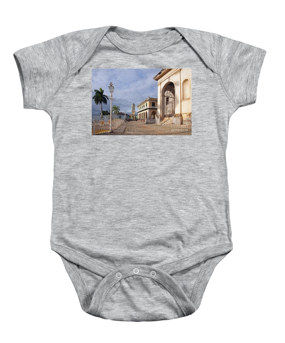 Colonial Baby Onesie featuring the photograph 130215p057 by Arterra Picture Library