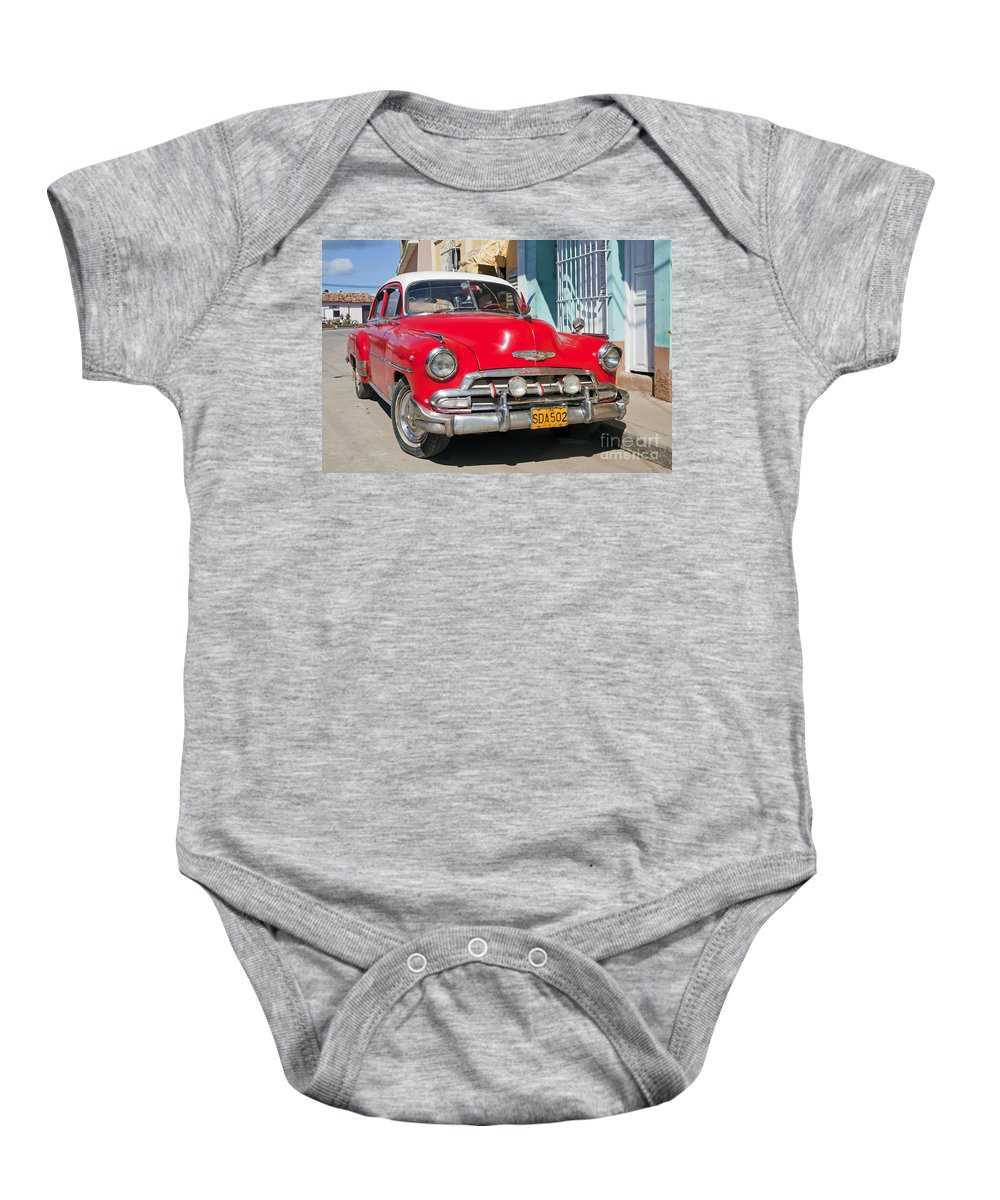 Red Baby Onesie featuring the photograph 130215p067 by Arterra Picture Library