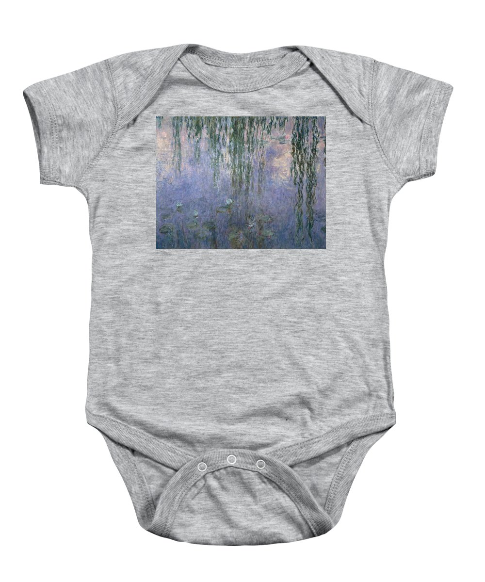 Art Baby Onesie featuring the painting Water Lilies by Claude Monet
