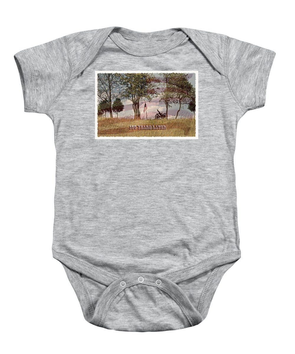 150 Years Later Baby Onesie featuring the photograph 150 Years Later by Randall Branham