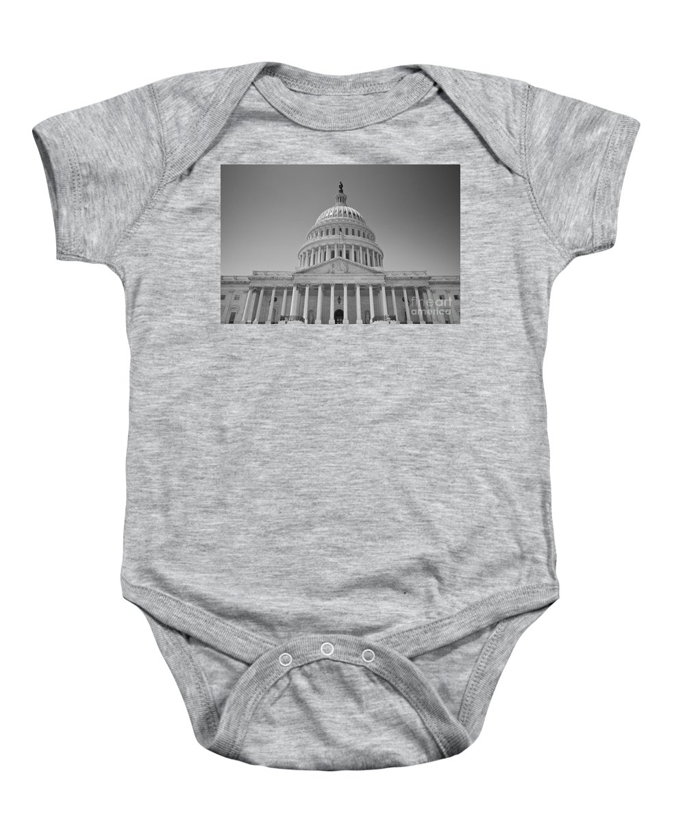 Us Baby Onesie featuring the photograph Us Capitol Building by B Christopher