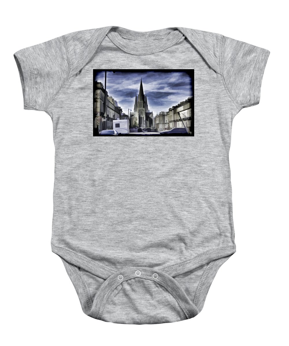 Architecture Baby Onesie featuring the digital art View Of Episcopal Cathedral In Edinburgh by Ashish Agarwal