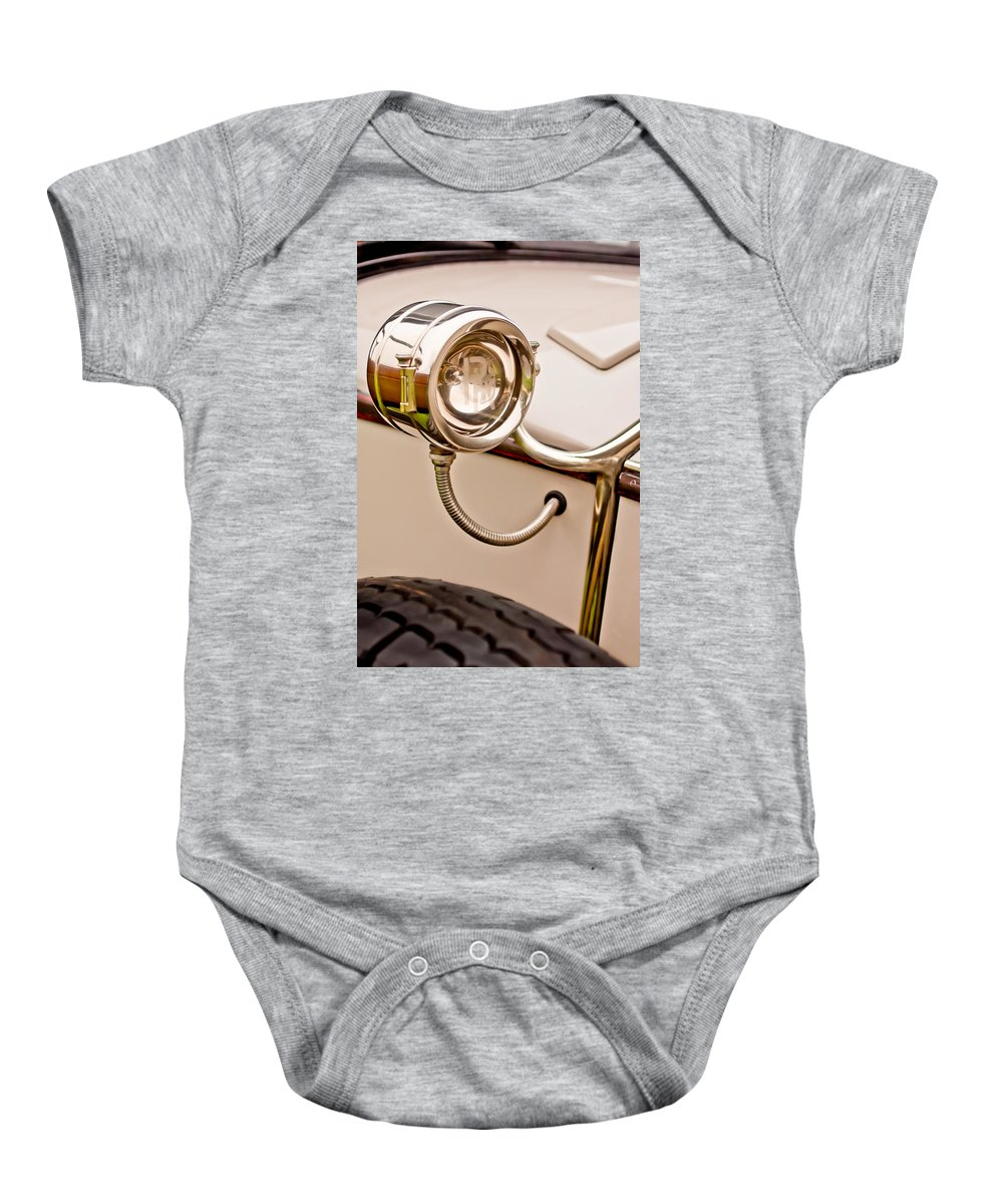 1927 Rolls-royce Phantom I Brewster Kenilworth Baby Onesie featuring the photograph 1927 Rolls-royce Phantom I Brewster Kenilworth Light -0209c by Jill Reger