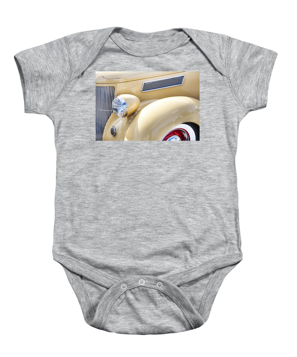 1936 Ford Baby Onesie featuring the photograph 1936 Ford Cabriolet by Rich Franco