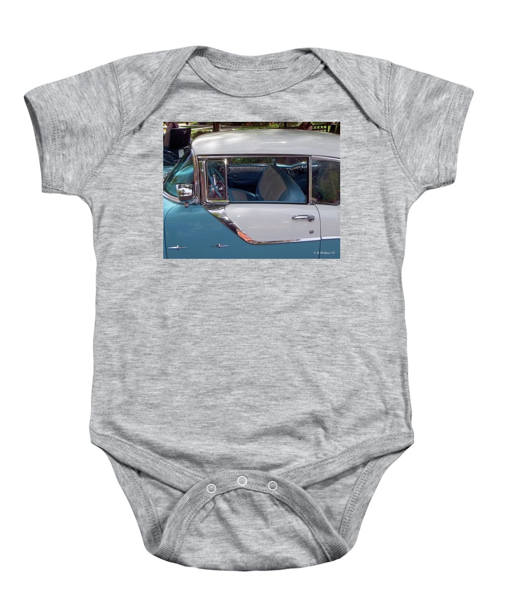 2d Baby Onesie featuring the photograph 1955 Pontiac Star Chief by Brian Wallace