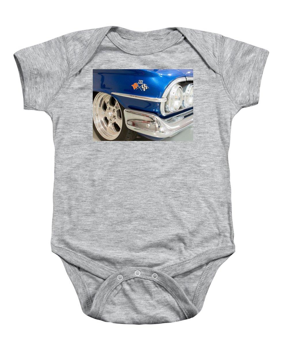 1960 Chevrolet Bel Air Baby Onesie featuring the photograph 1960 Chevrolet Bel Air 012315 by Rospotte Photography