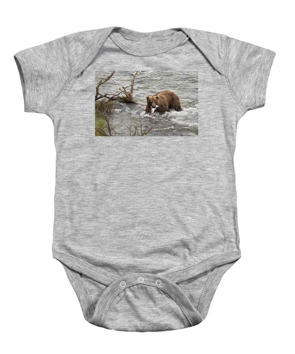 Alaska Baby Onesie featuring the photograph Alaskan Grizzly by Dee Carpenter