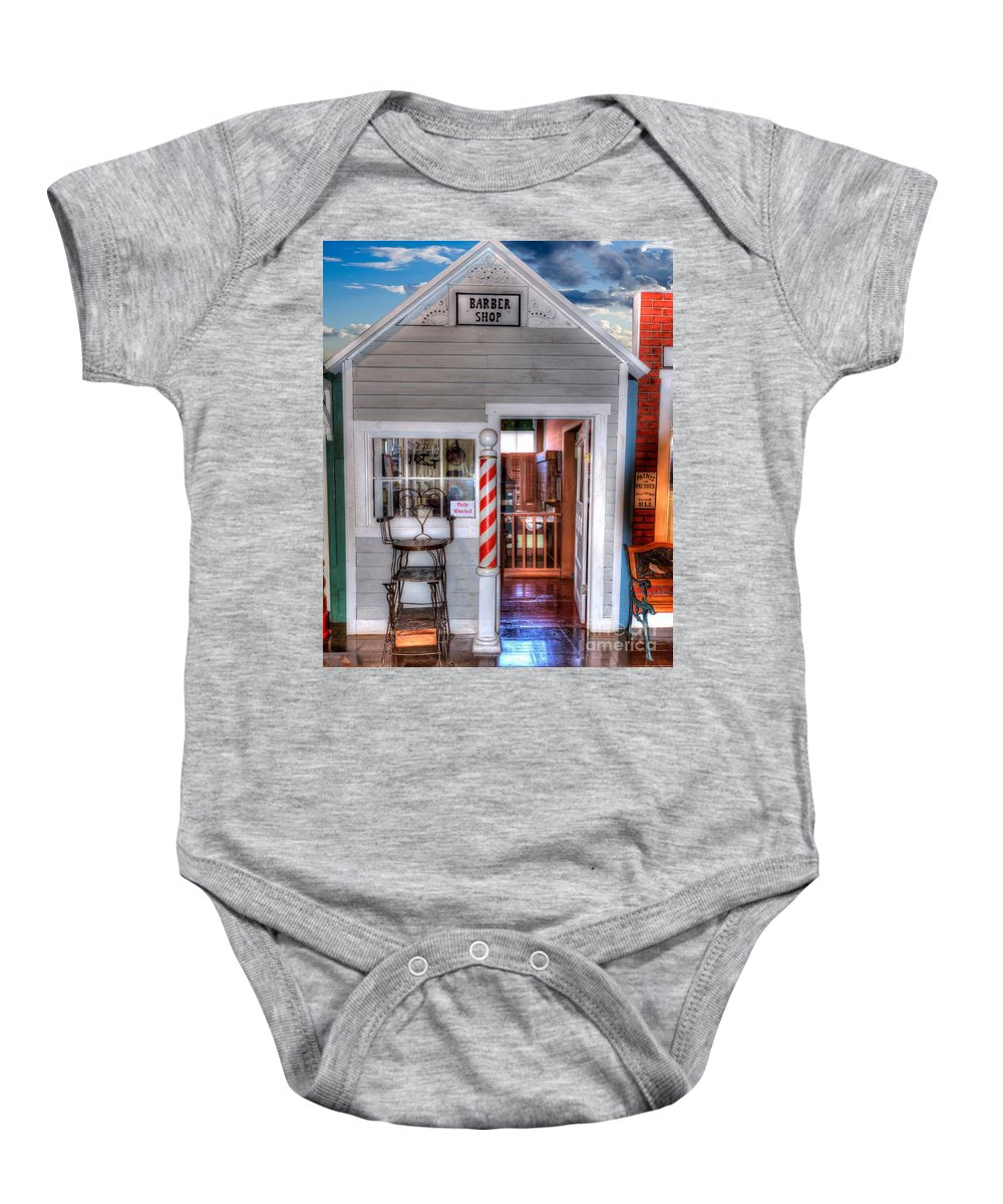Barber Shop Baby Onesie featuring the photograph Barber Shop by L Wright