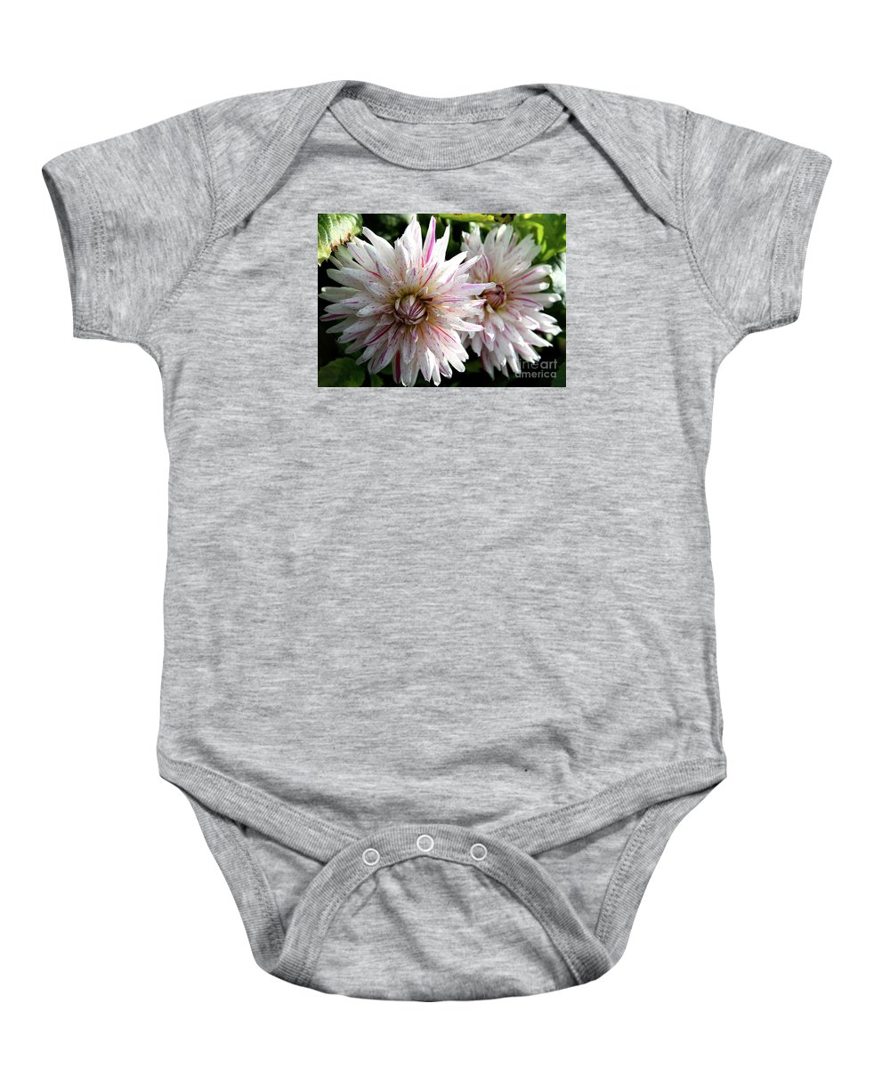 Dahlia Baby Onesie featuring the photograph Beautiful Twins by Christiane Schulze Art And Photography
