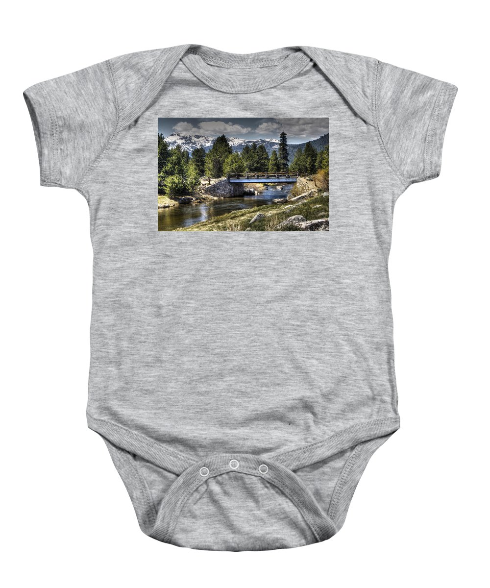 Landscape Baby Onesie featuring the photograph Bridge Over Hope by SC Heffner