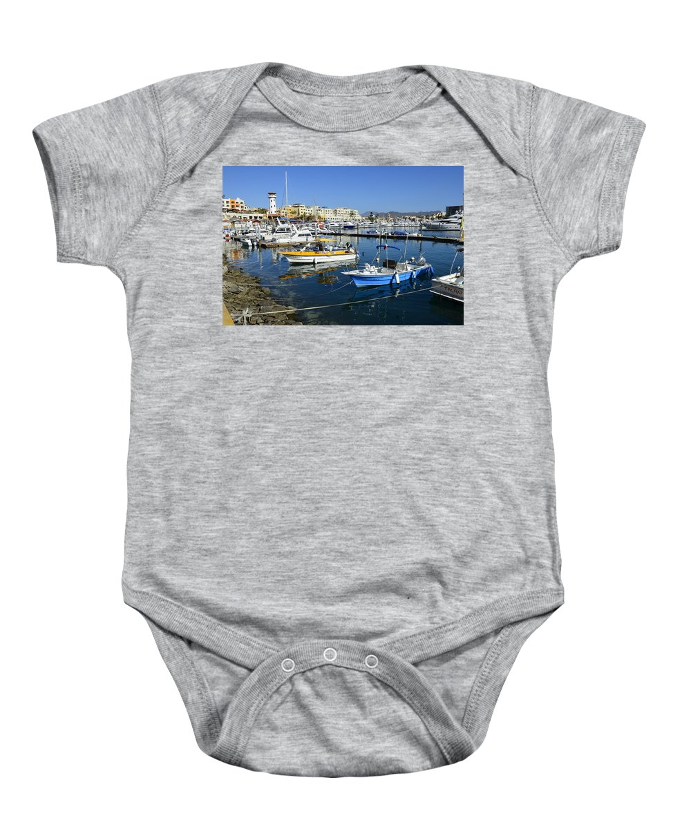 Cabo San Lucas Baby Onesie featuring the photograph Cabo San Lucas by Yinguo Huang