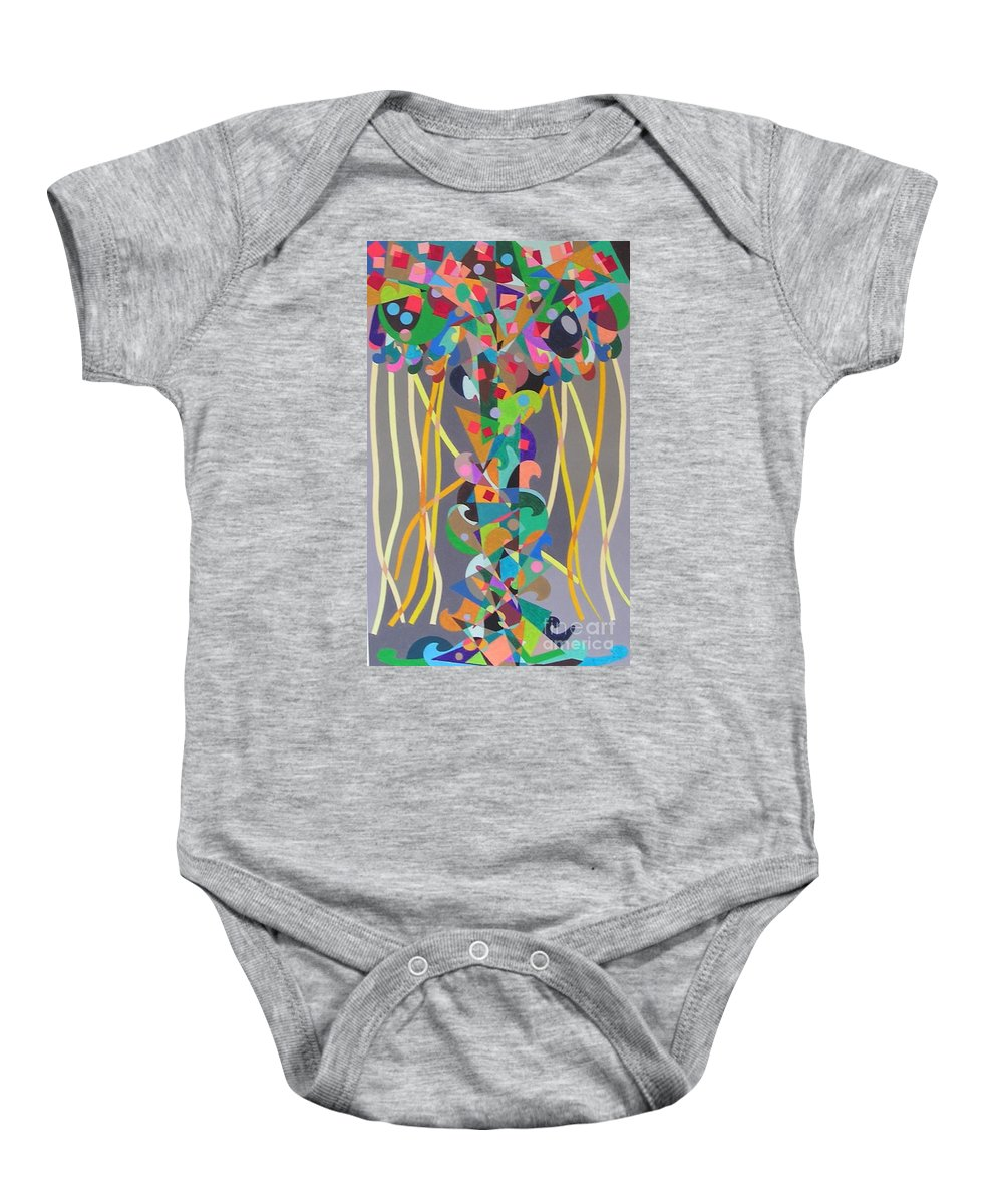 Landscape Baby Onesie featuring the painting Carnival by Allan P Friedlander
