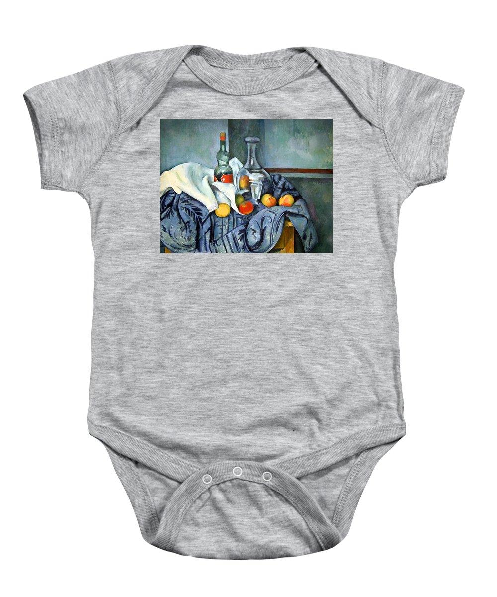 The Peppermint Bottle Baby Onesie featuring the photograph Cezanne's The Peppermint Bottle by Cora Wandel