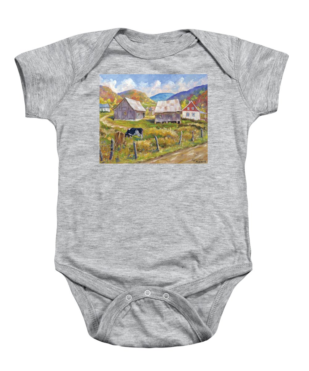 Art Baby Onesie featuring the painting Charlevoix North by Richard T Pranke
