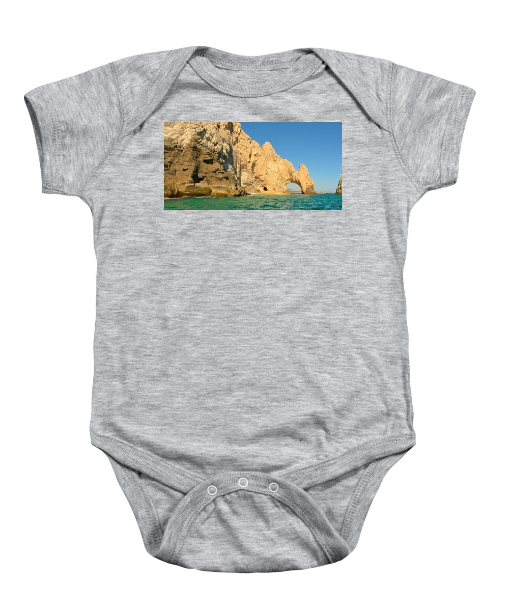 Lands End Baby Onesie featuring the photograph El Arco De Cabo San Lucas by Yinguo Huang