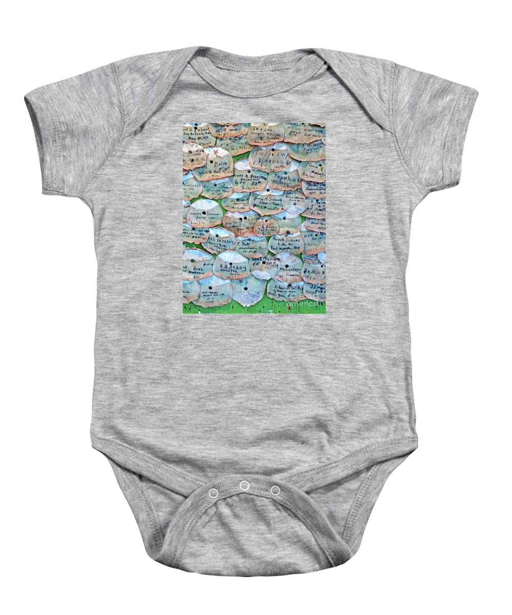 Framed Tarpon Scale Print Baby Onesie featuring the photograph Extinction Wall by Joe Jake Pratt