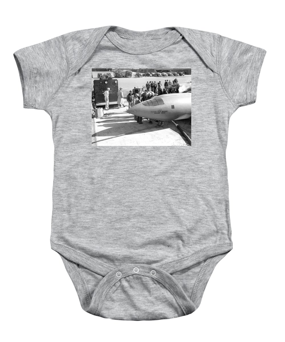Science Baby Onesie featuring the photograph First Supersonic Aircraft, Bell X-1 by Science Source