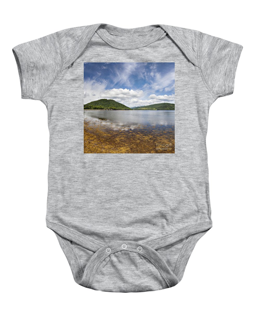 Reflection Baby Onesie featuring the photograph Loch Fine By Inveraray by Sophie McAulay