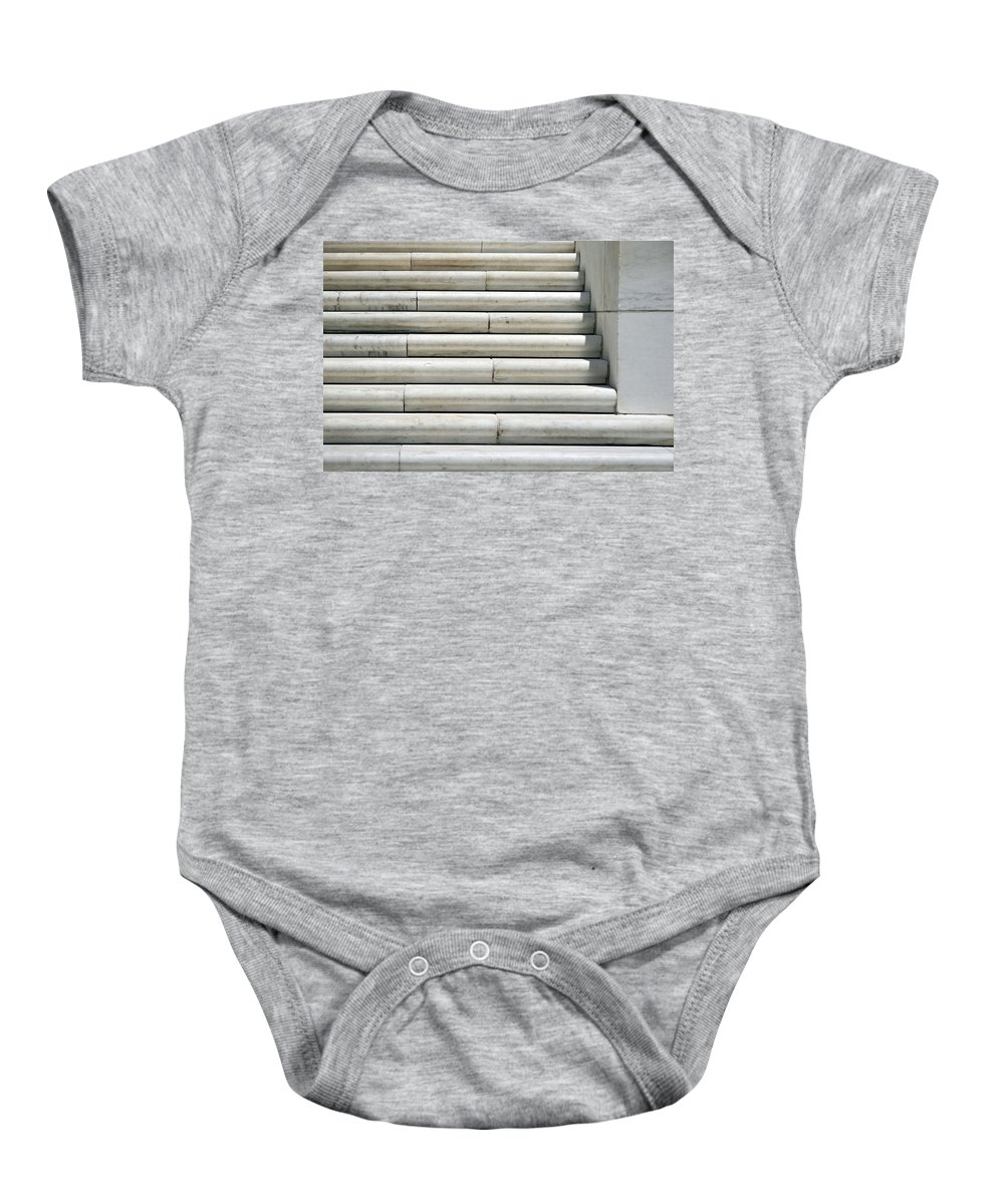 Marble Baby Onesie featuring the photograph Marble Lines by Cora Wandel