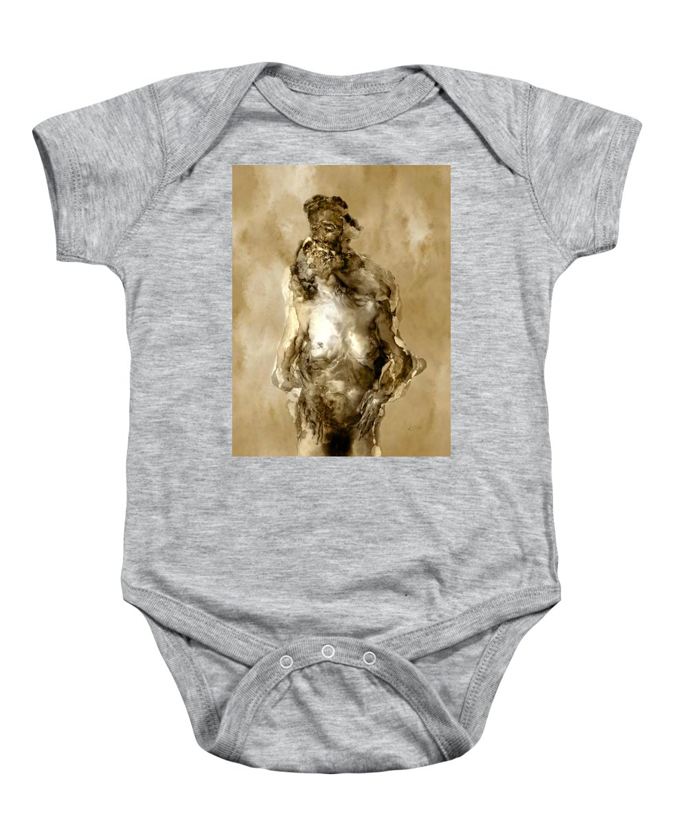 Nude Baby Onesie featuring the photograph Melt by Kurt Van Wagner