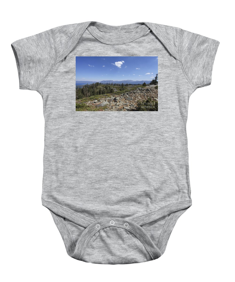 Idyllic Baby Onesie featuring the photograph Mount Tallac Trailhead by Gal Eitan