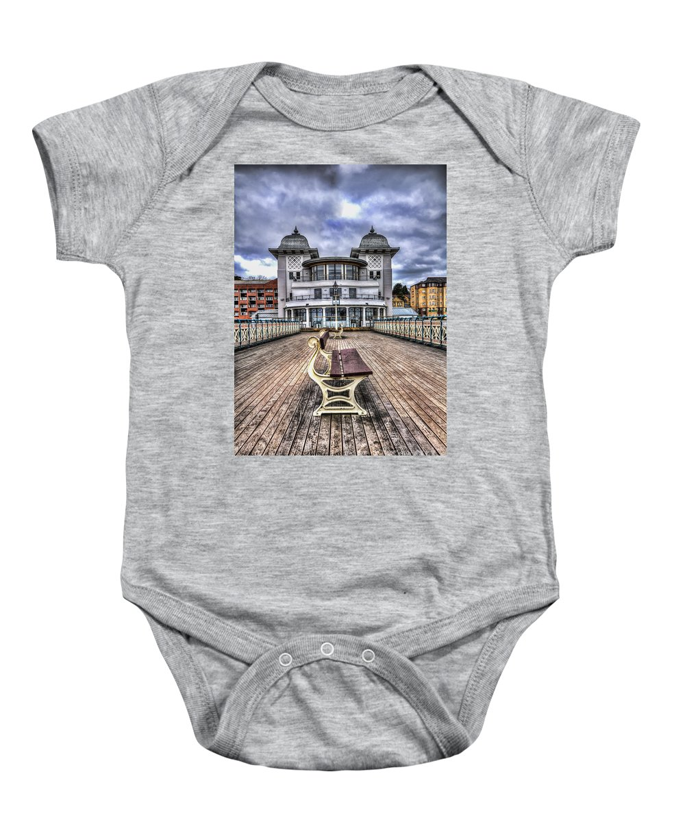 Penarth Pier Baby Onesie featuring the photograph Penarth Pier Pavilion by Steve Purnell