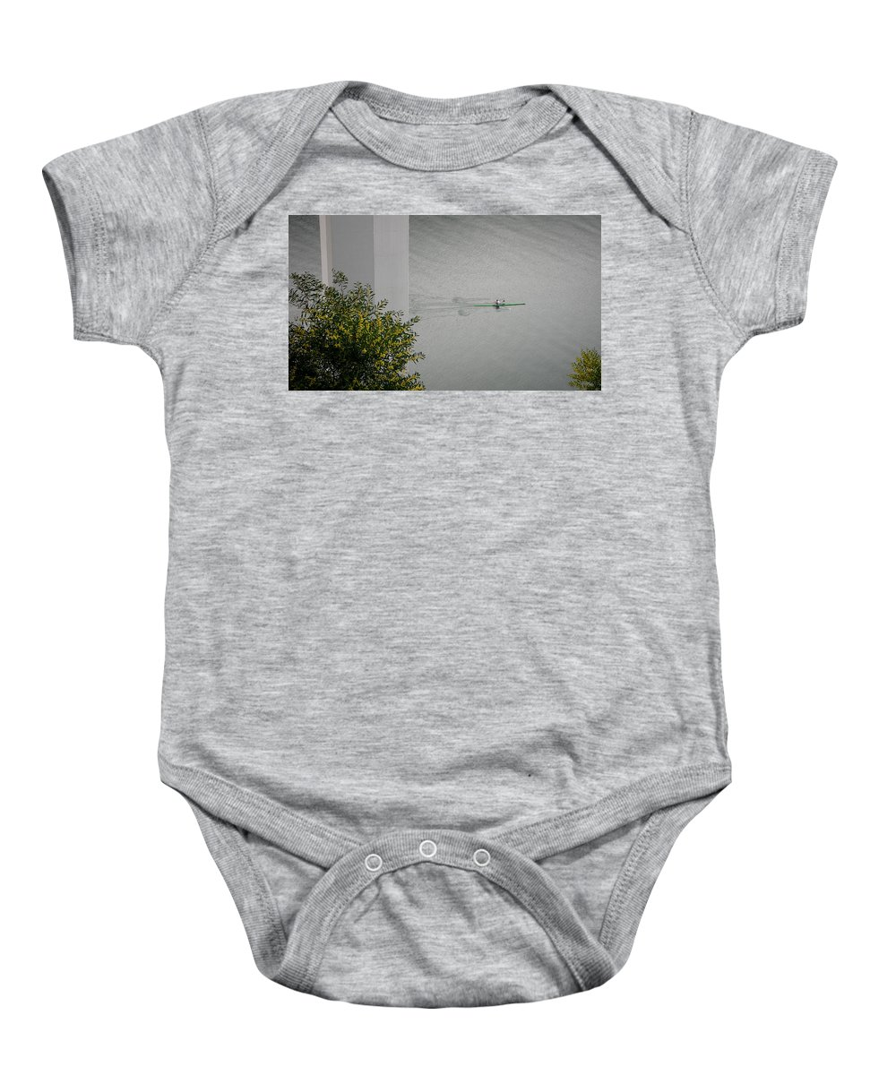Rower Baby Onesie featuring the photograph Rower On Douro by Ari Salmela