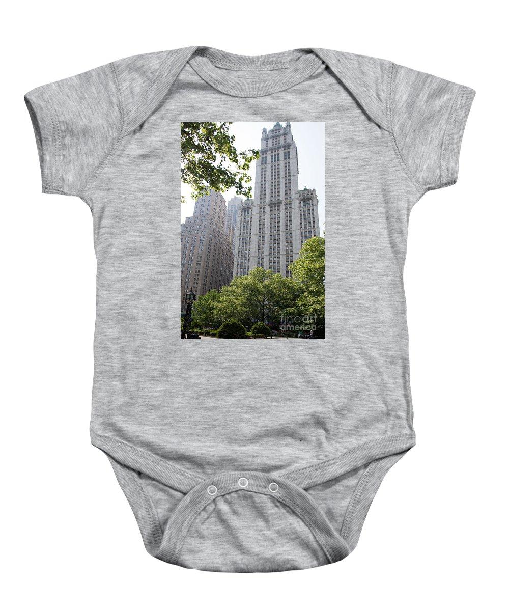 Downtown Baby Onesie featuring the digital art Street Scenes by Carol Ailles