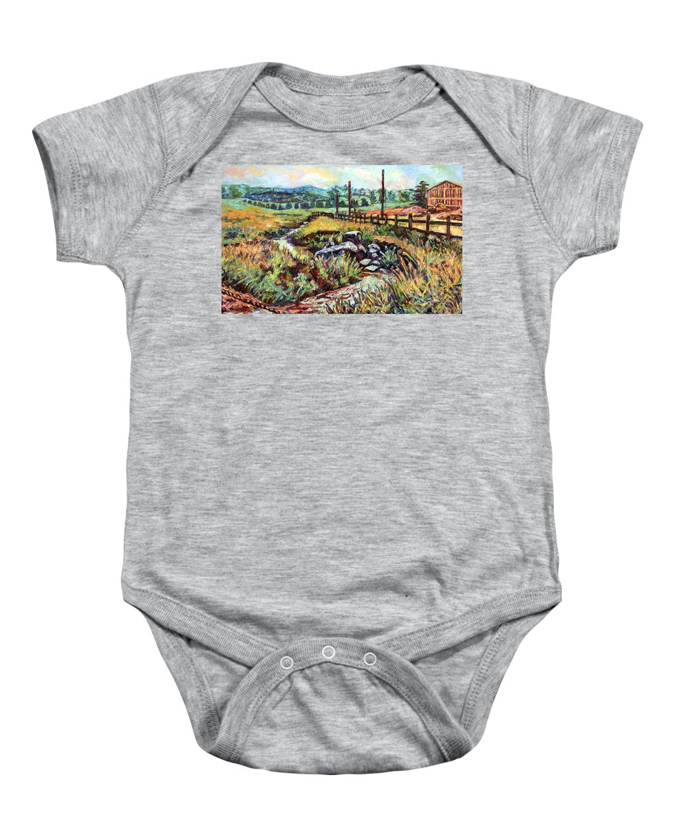 Landscape Paintings Baby Onesie featuring the painting Stroubles Creek by Kendall Kessler