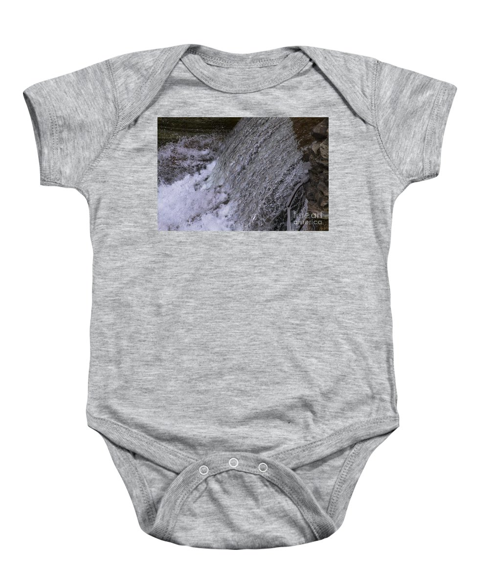 Water Baby Onesie featuring the photograph The Falls by William Norton