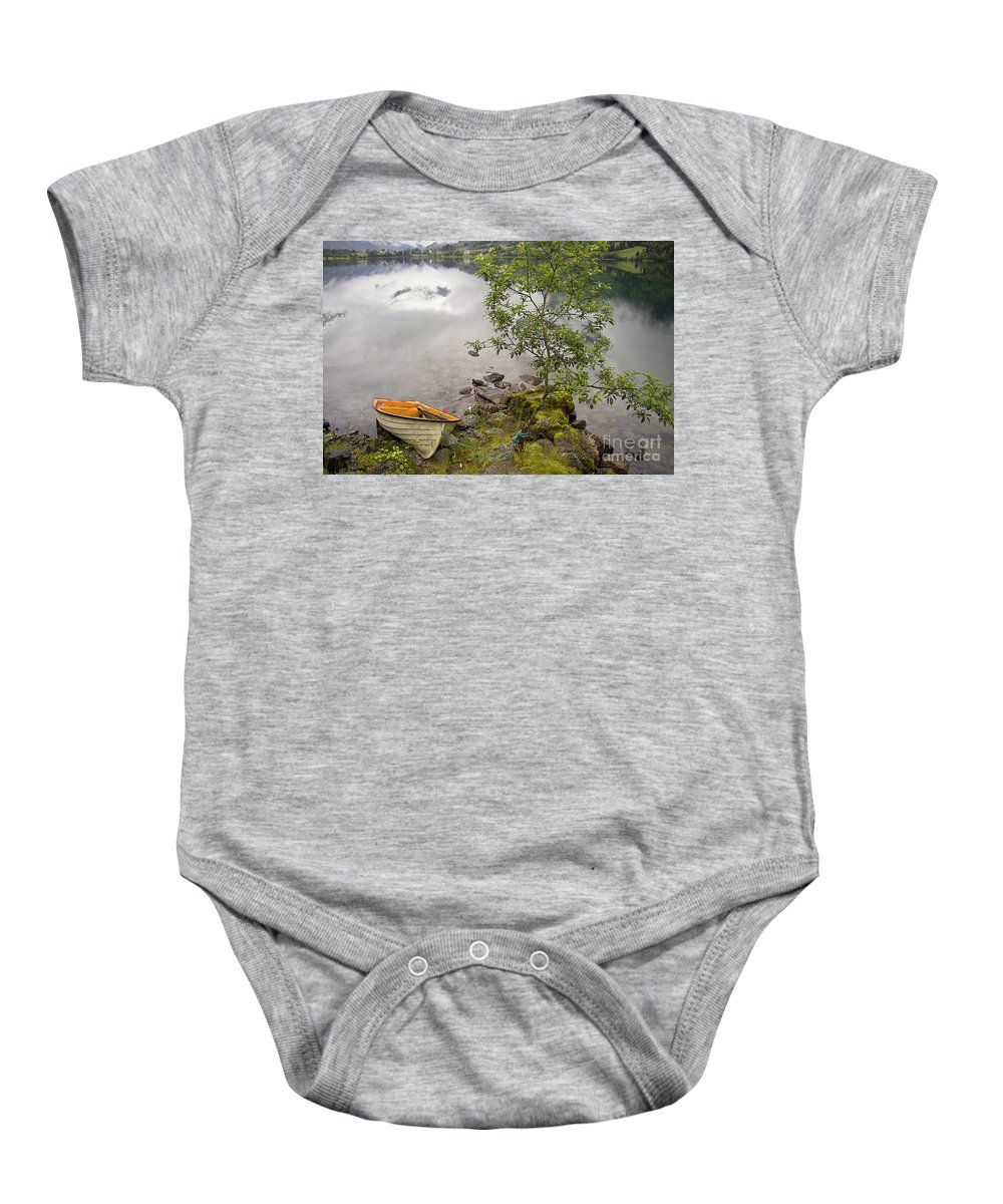 Europe Baby Onesie featuring the photograph The Rowing Boat by Heiko Koehrer-Wagner