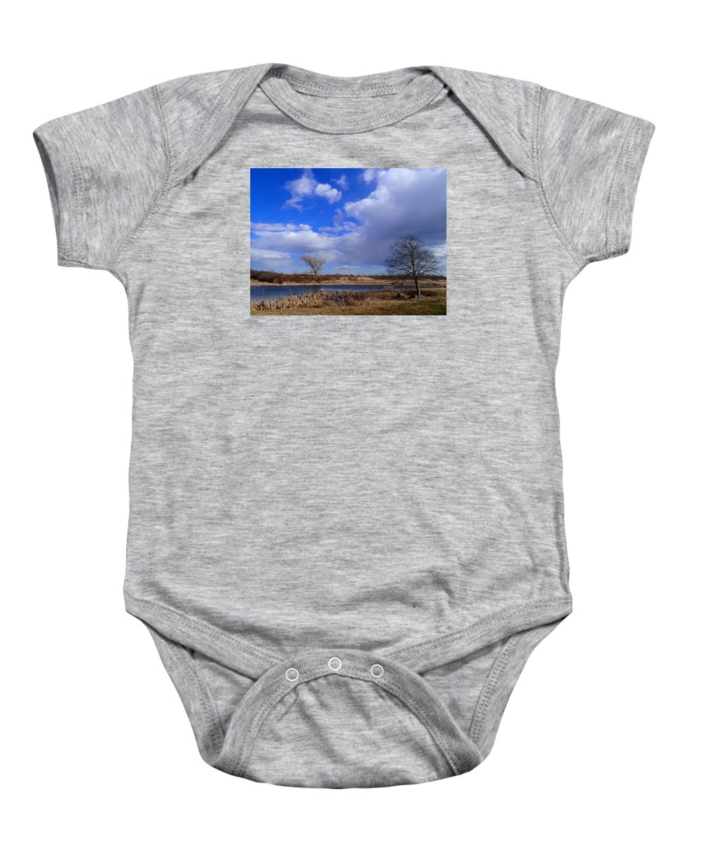 Nature Baby Onesie featuring the photograph 2 Tree 1 by Robert Nickologianis