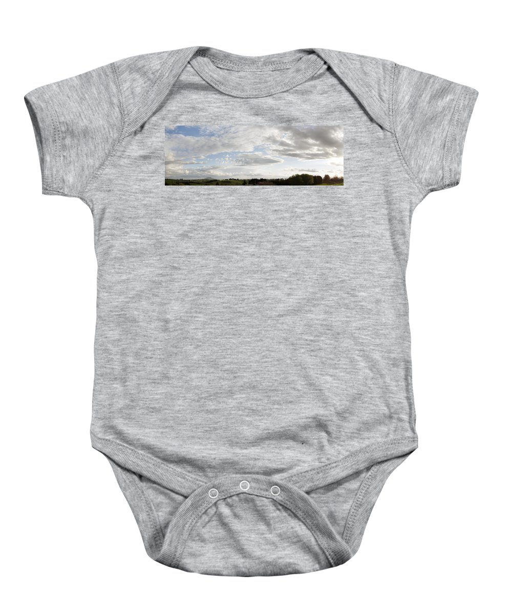 Sky Baby Onesie featuring the photograph New Zealand by Les Cunliffe