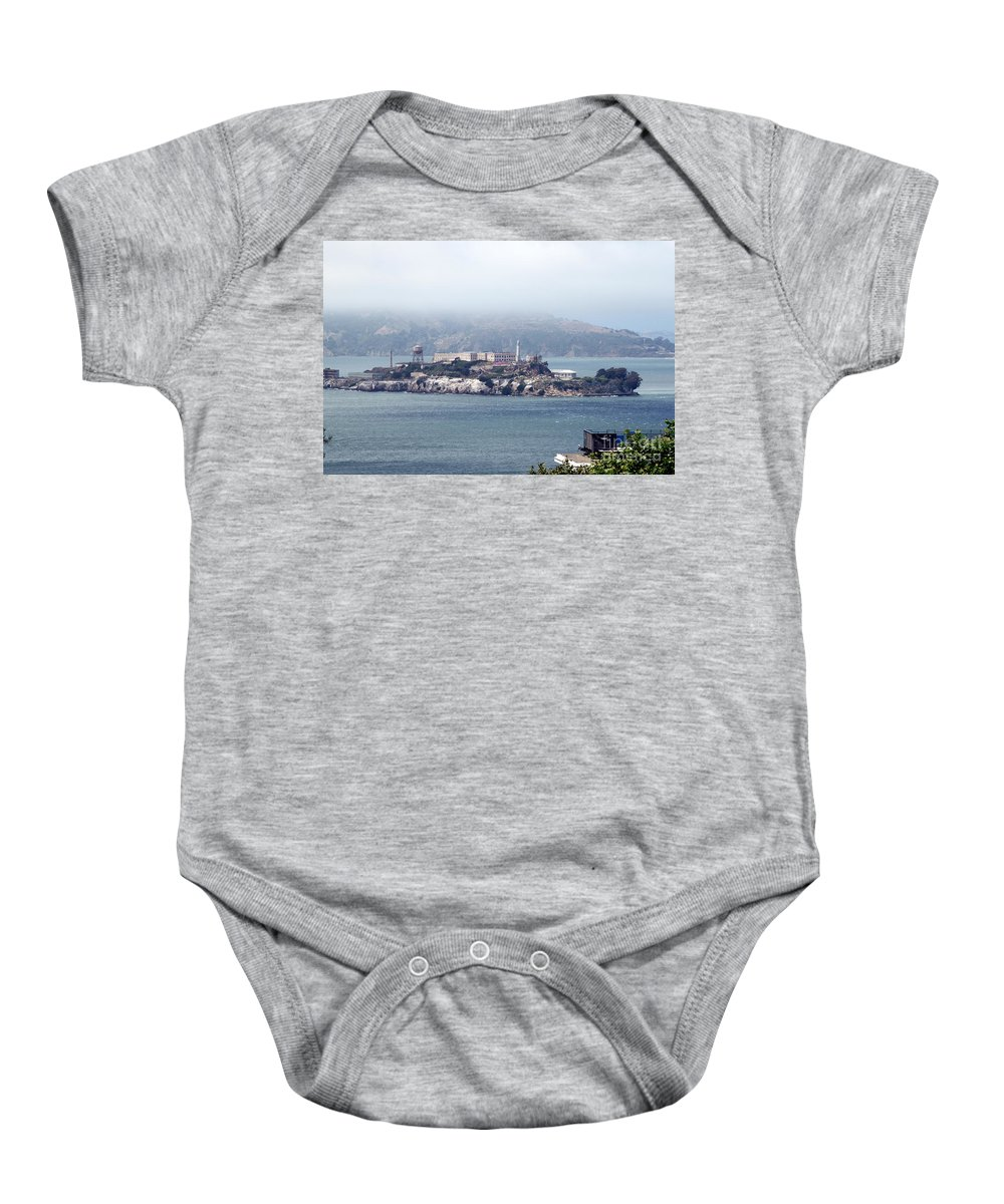 Alcatraz Baby Onesie featuring the photograph Alcatraz by Henrik Lehnerer