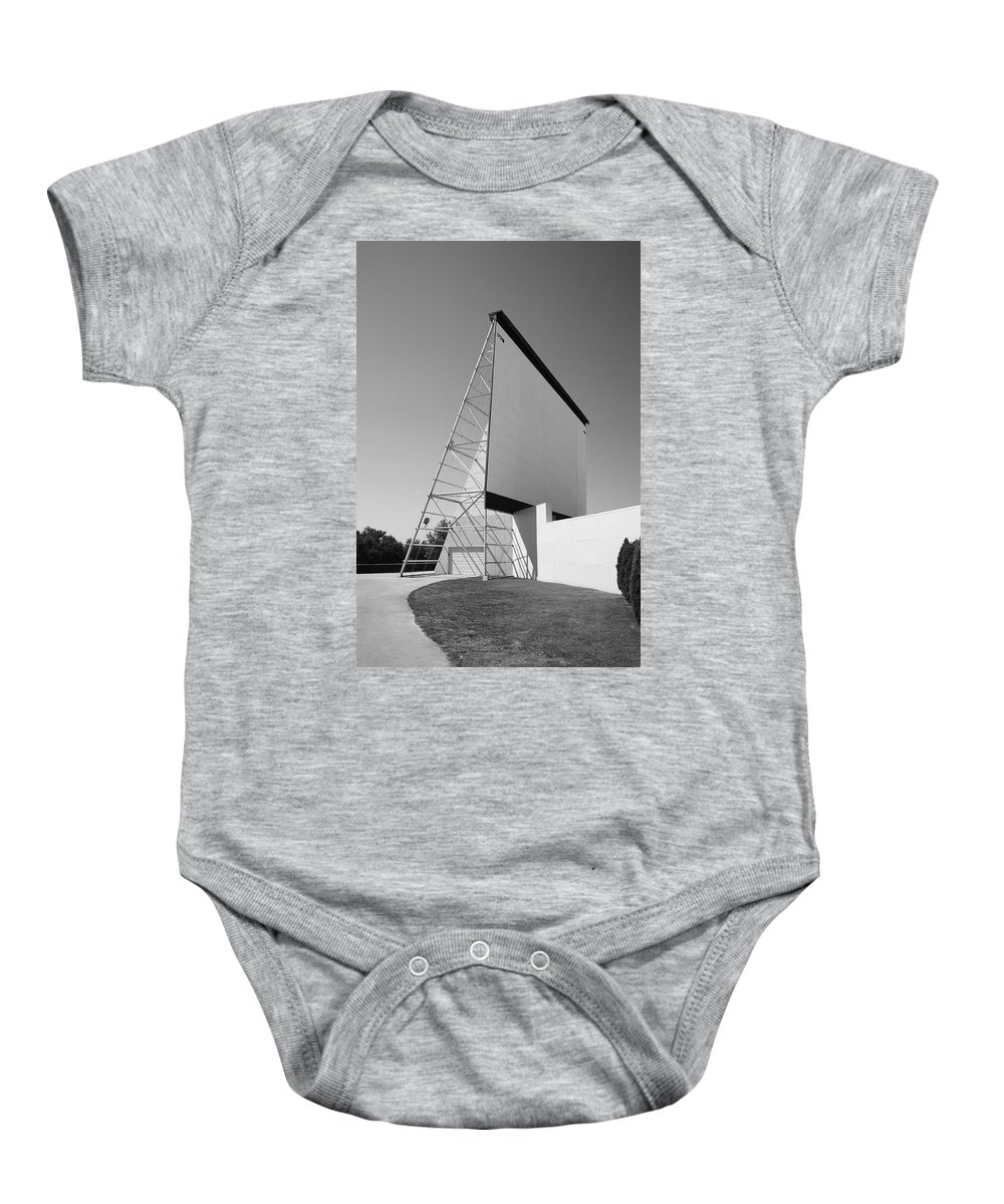 66 Baby Onesie featuring the photograph Drive-in Movie by Frank Romeo