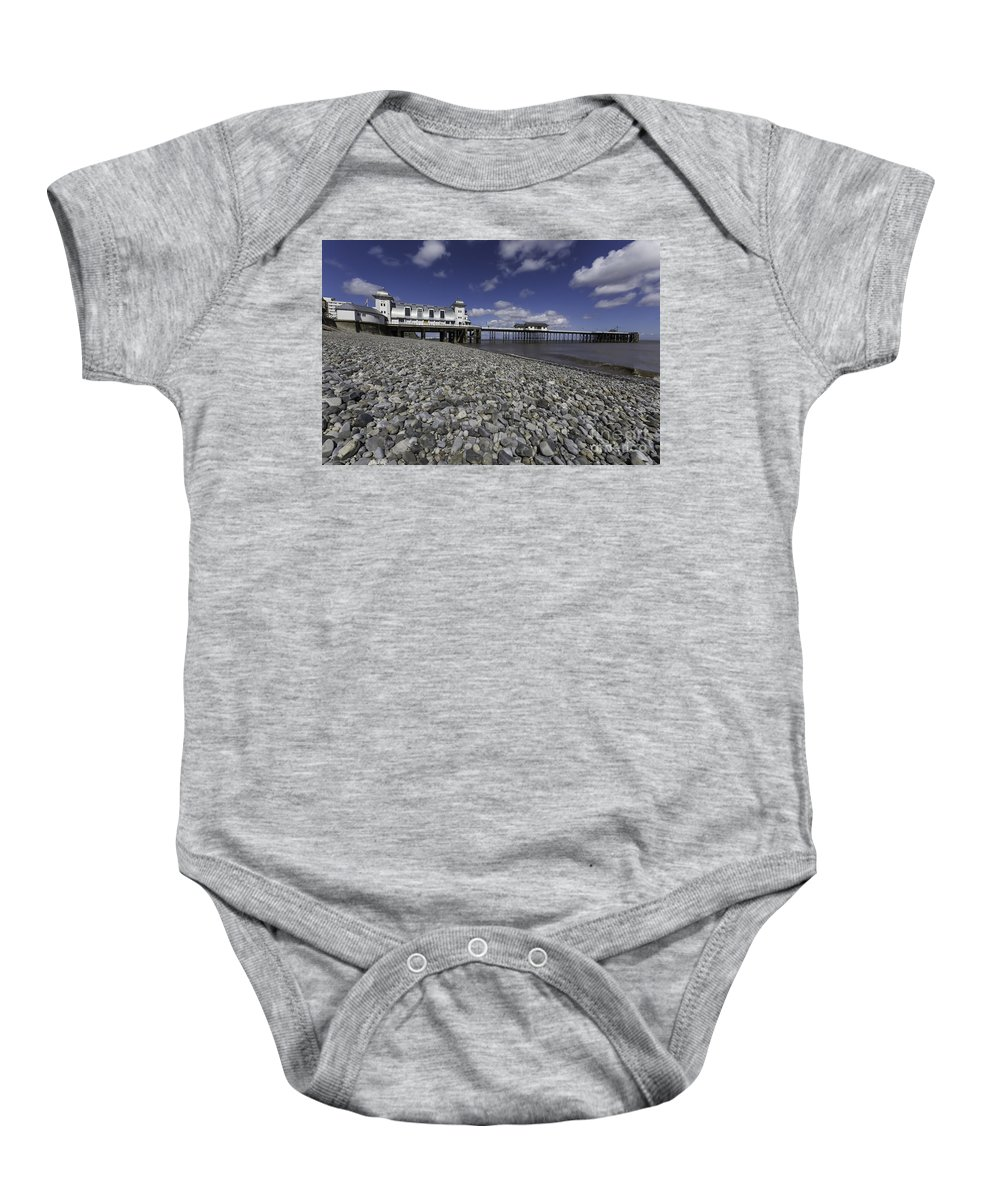 Penarth Pier Baby Onesie featuring the photograph Penarth Pier 2 by Steve Purnell
