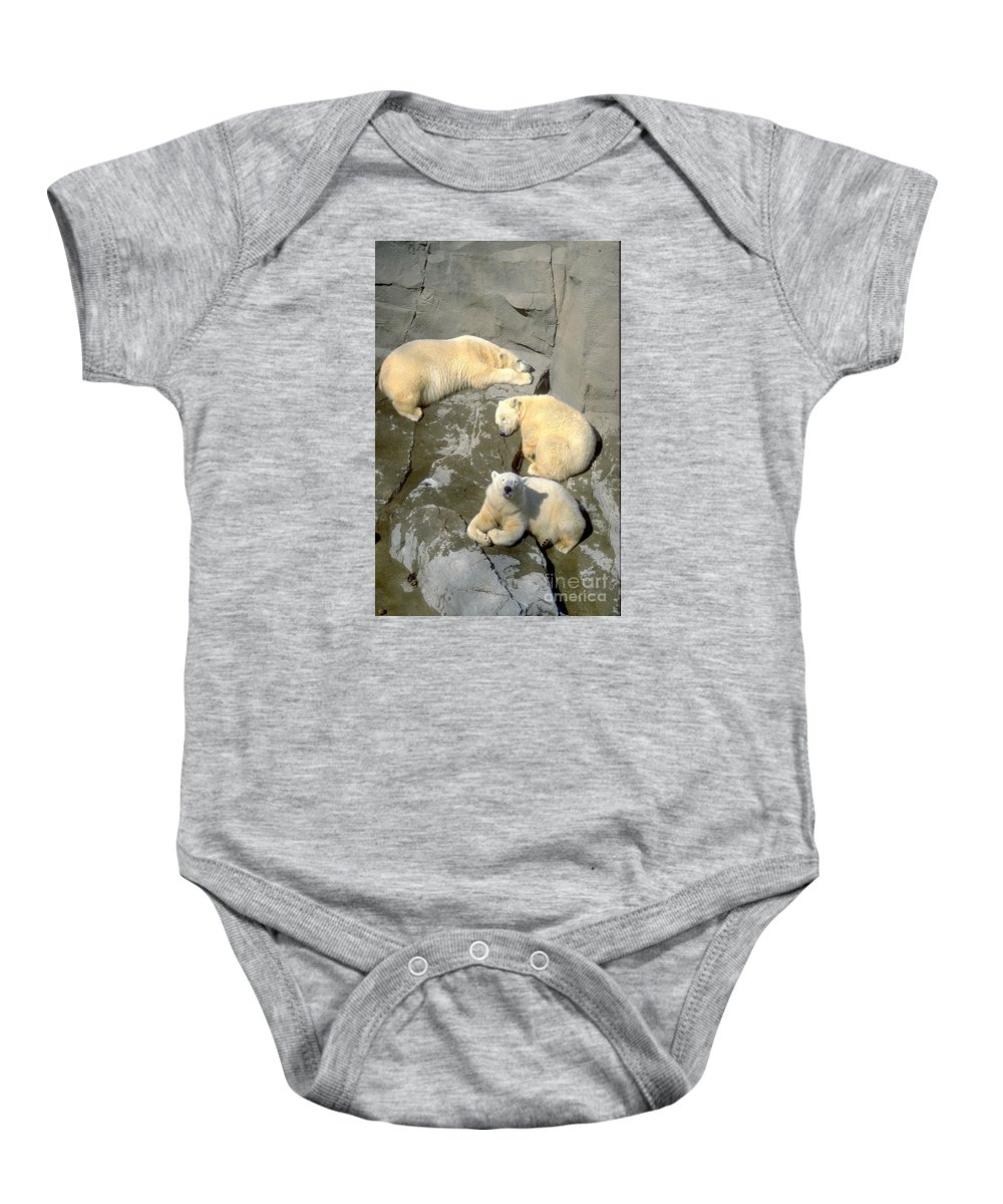 Polar Baby Onesie featuring the photograph 3 Polars by Gary Gingrich Galleries