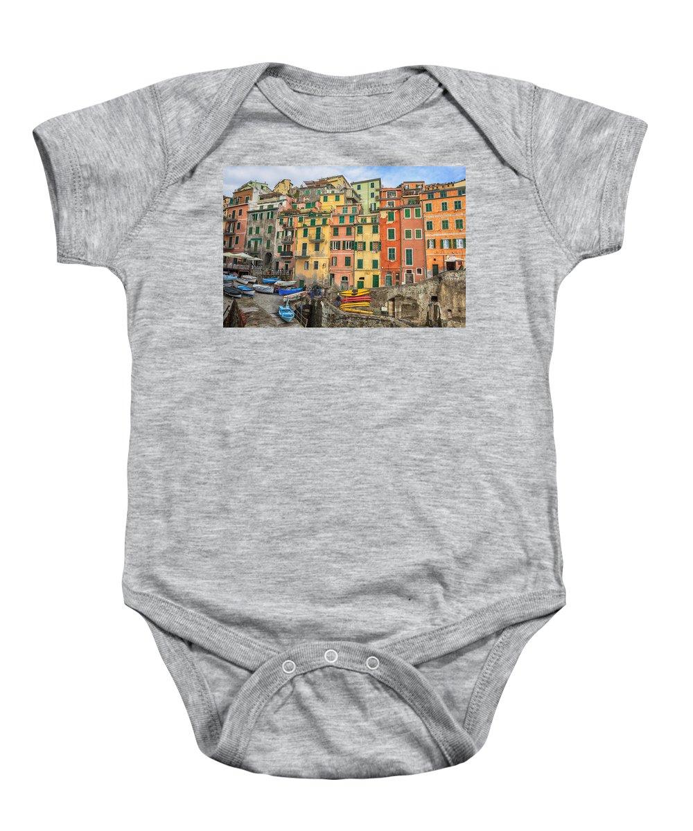Riomaggiore Baby Onesie featuring the photograph Riomaggiore by Joana Kruse