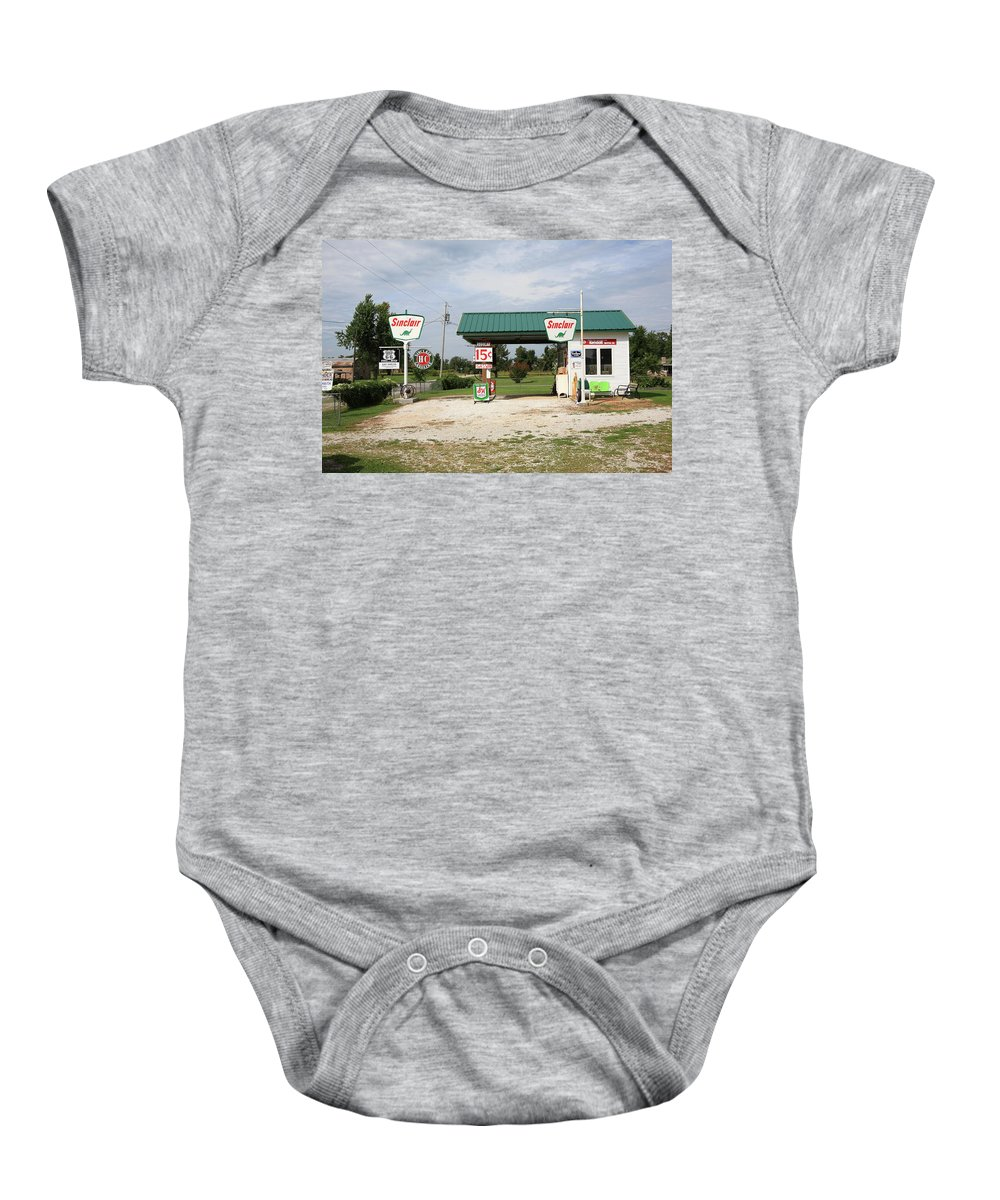 66 Baby Onesie featuring the photograph Route 66 - Paris Springs Missouri by Frank Romeo