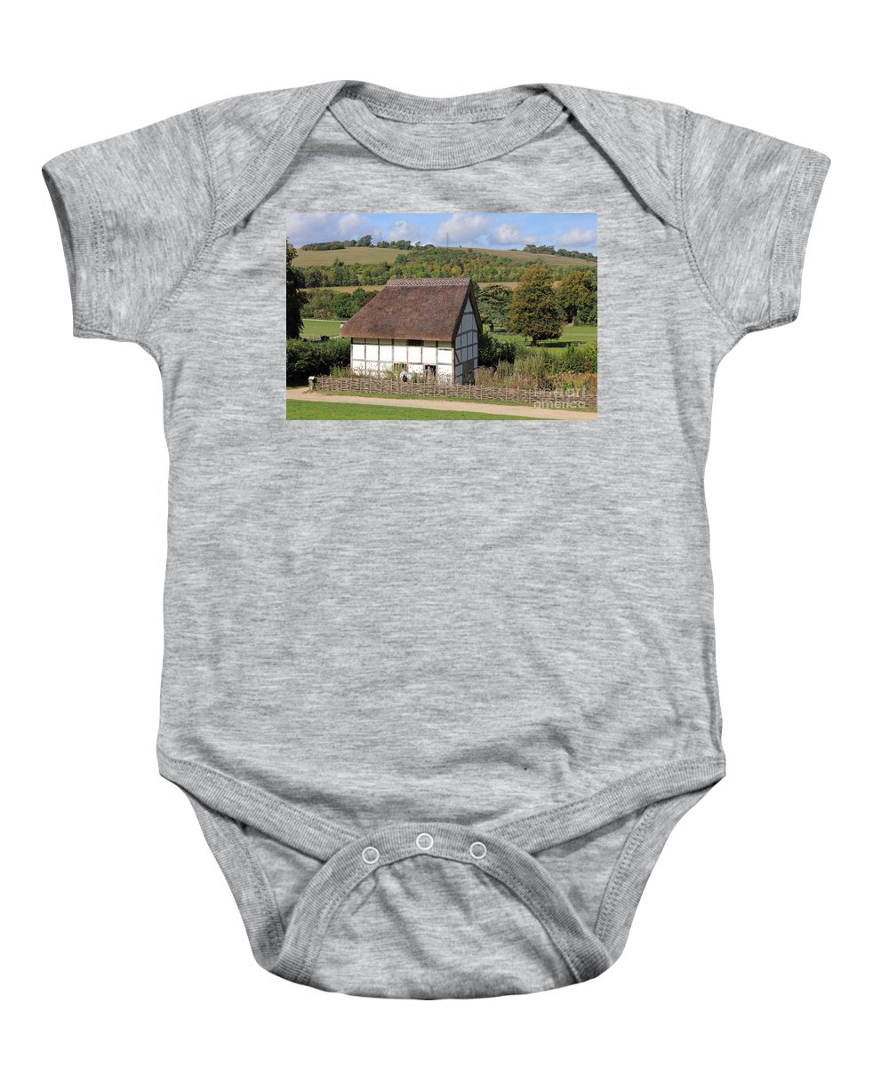 Traditional Cottage Sussex Uk Baby Onesie featuring the photograph Traditional Cottage Sussex Uk by Julia Gavin