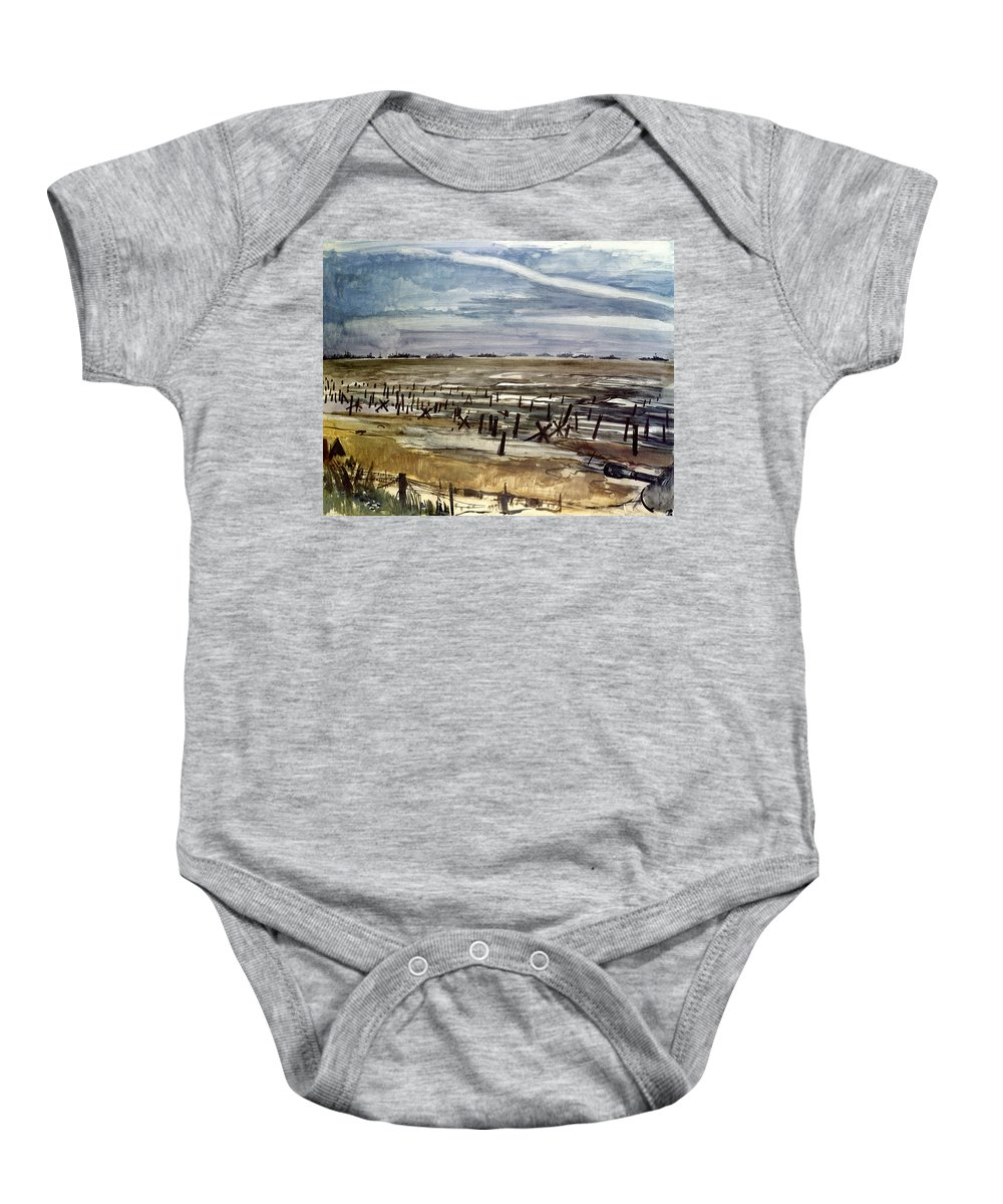 1944 Baby Onesie featuring the photograph World War II: Normandy by Granger