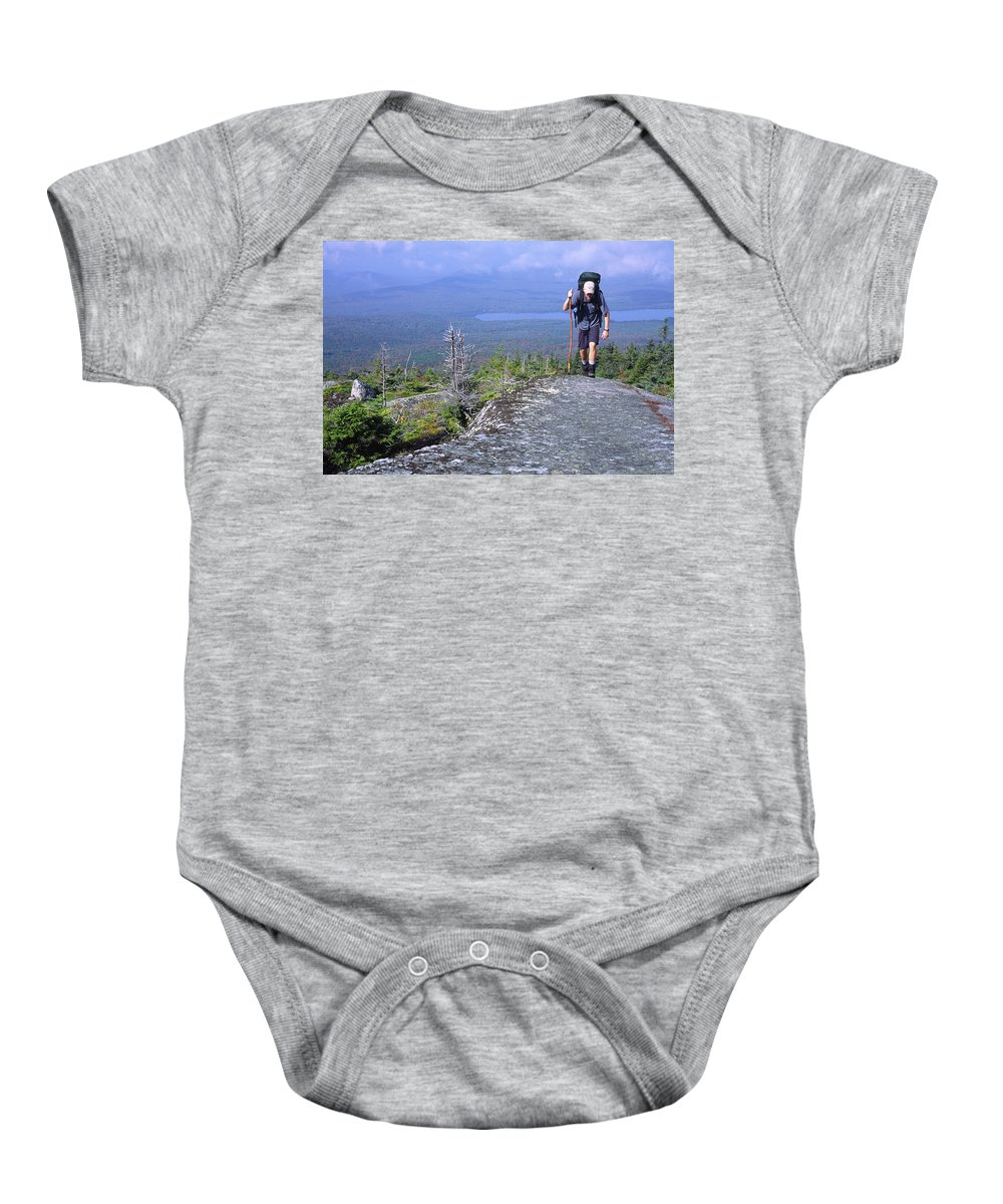 Adventure Baby Onesie featuring the photograph Appalachian Trail by Alexandra Daley-Clark