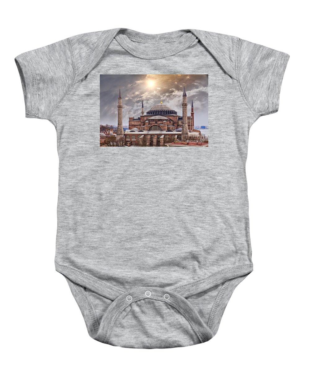 Hagia Sophia Baby Onesie featuring the photograph Hagia Sophia Istanbul by Sophie McAulay