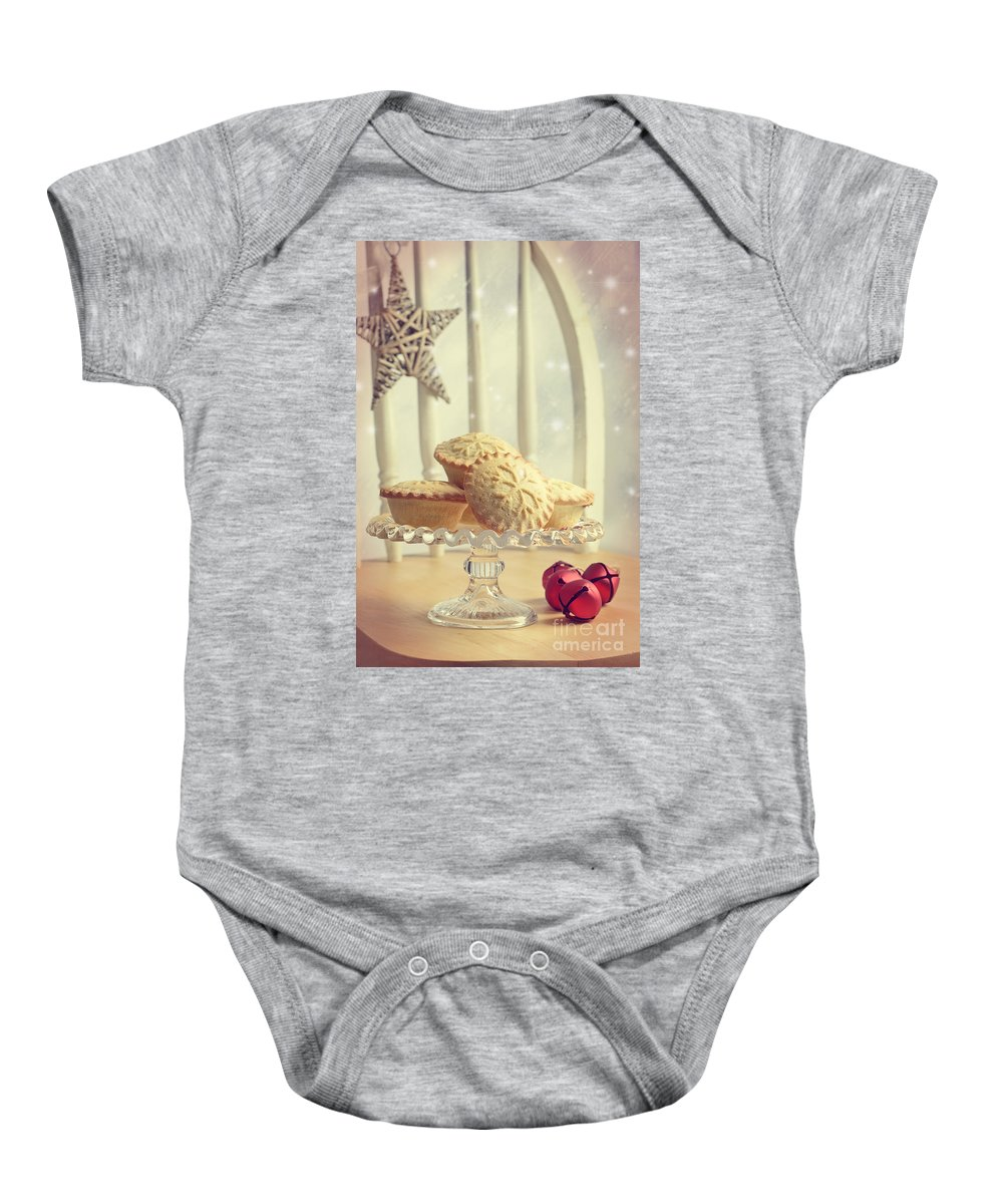 Mince Baby Onesie featuring the photograph Mince Pies by Amanda Elwell