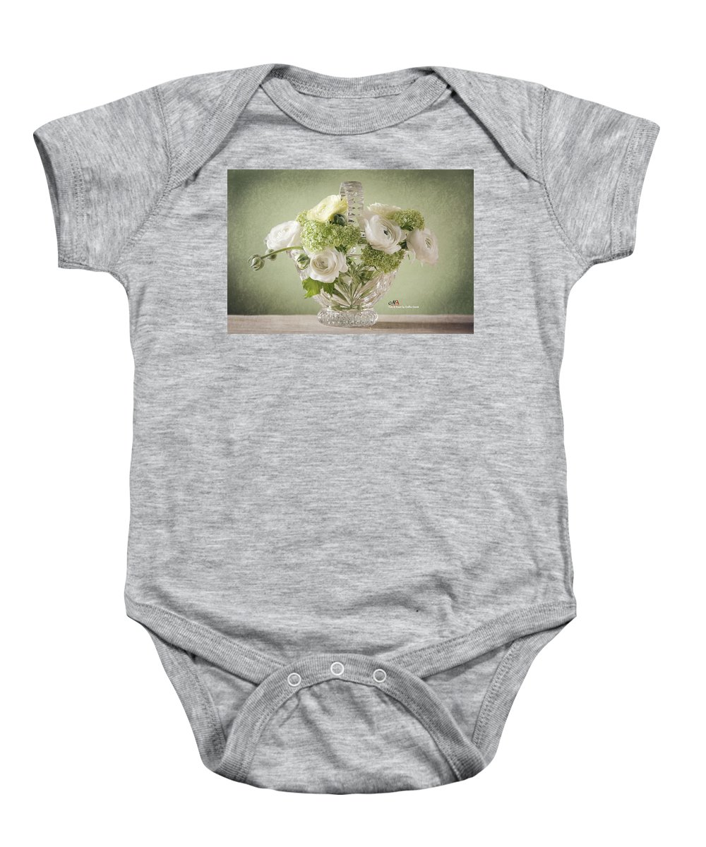 Weis Baby Onesie featuring the pyrography Spring by Steffen Gierok