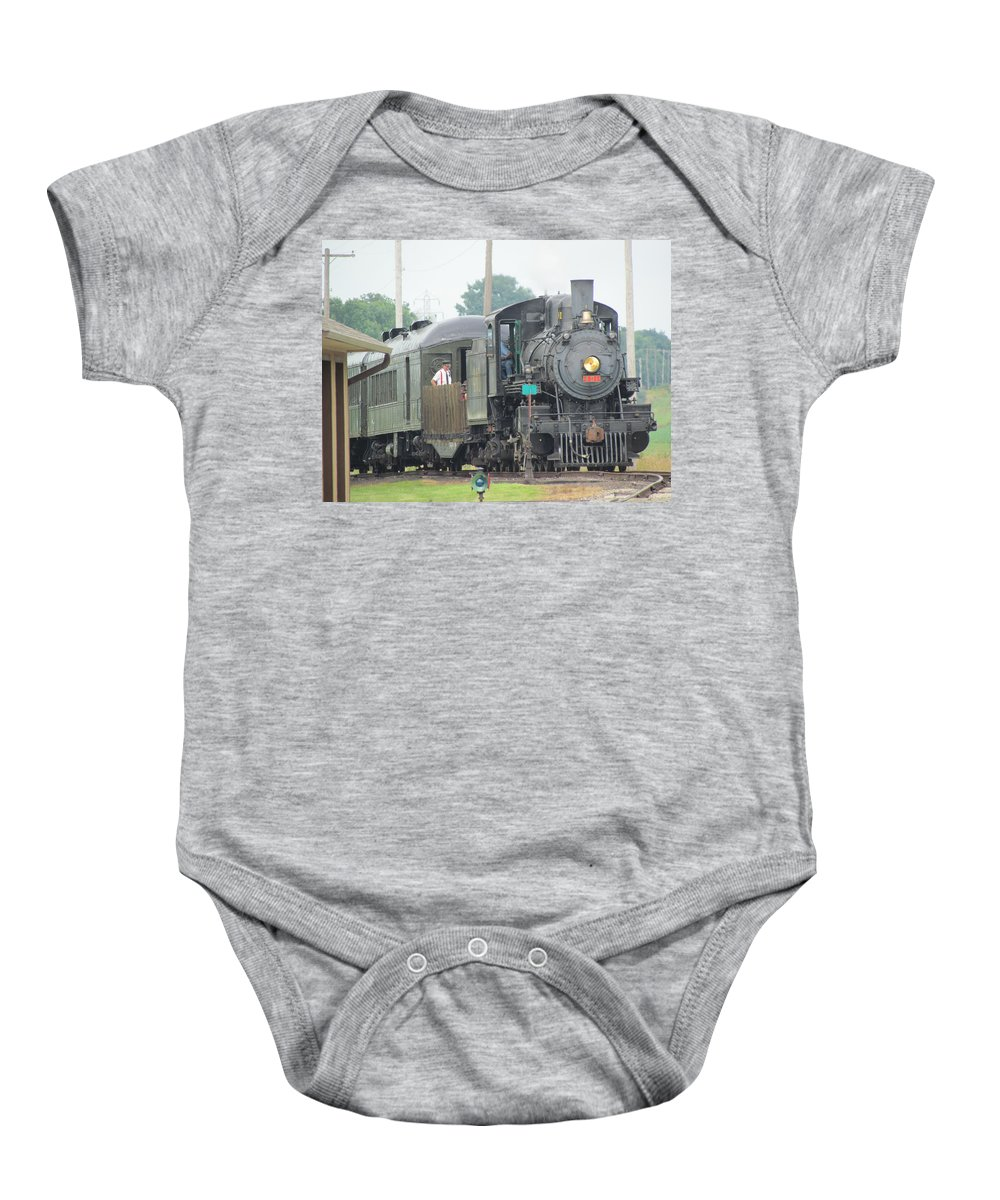 Train Baby Onesie featuring the photograph 401 by Eric Noa