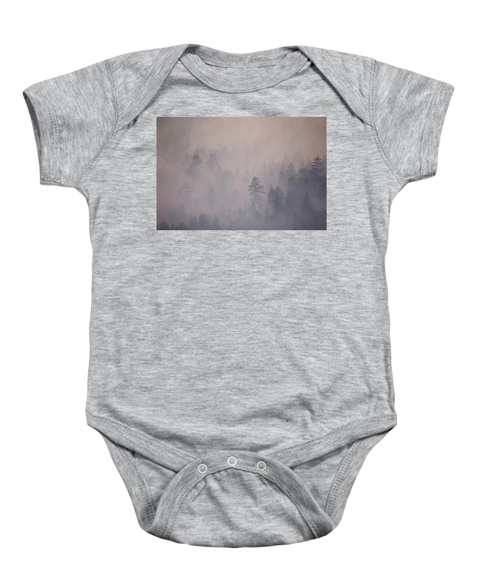 Angora Baby Onesie featuring the photograph Angora Fire In South Lake Tahoe, Ca by Justin Bailie