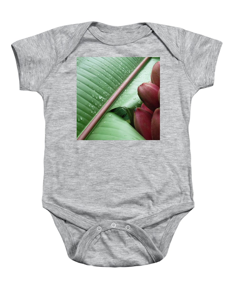 Banana Baby Onesie featuring the photograph Banana Leaf by Heiko Koehrer-Wagner