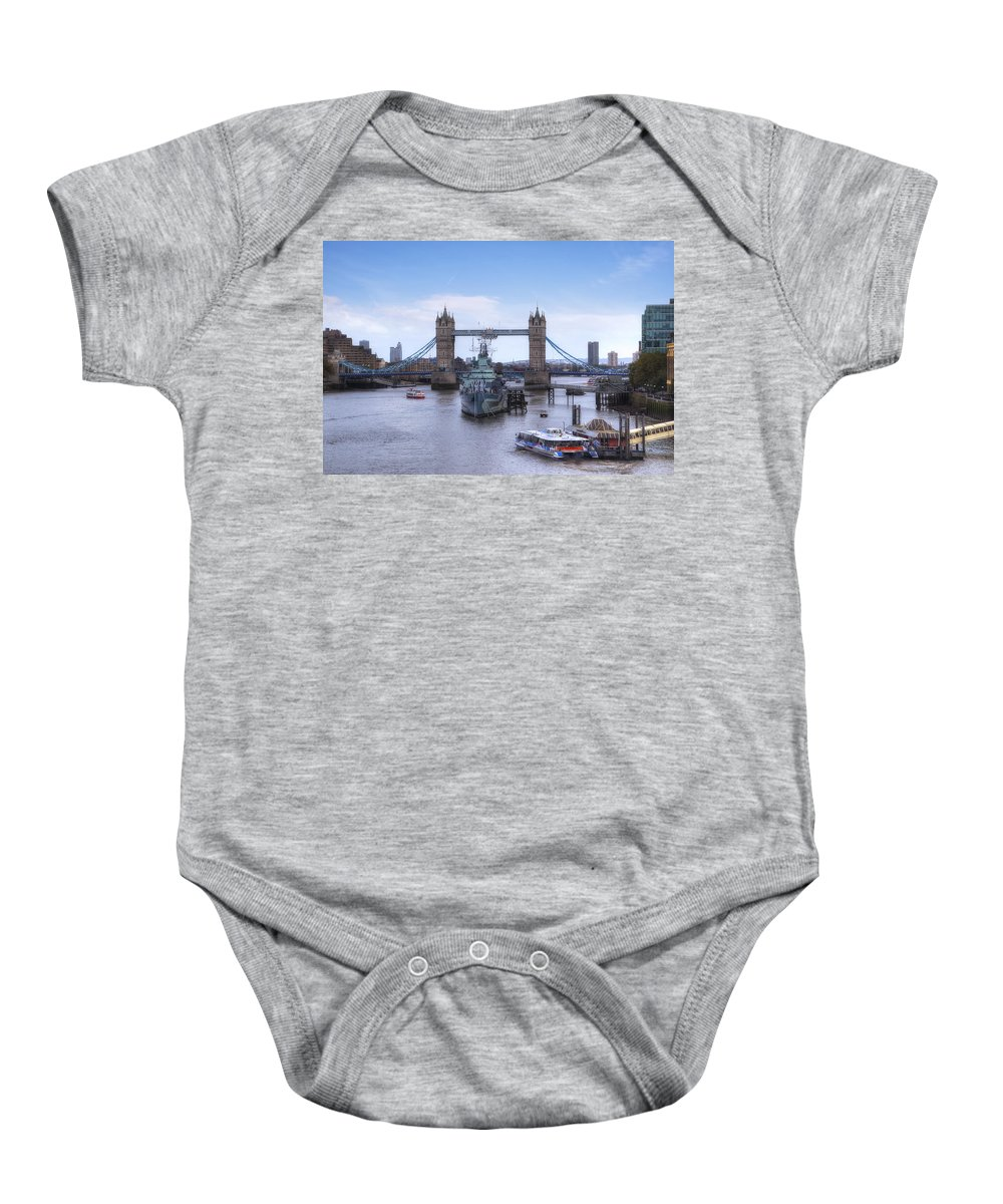 London Baby Onesie featuring the photograph London by Joana Kruse