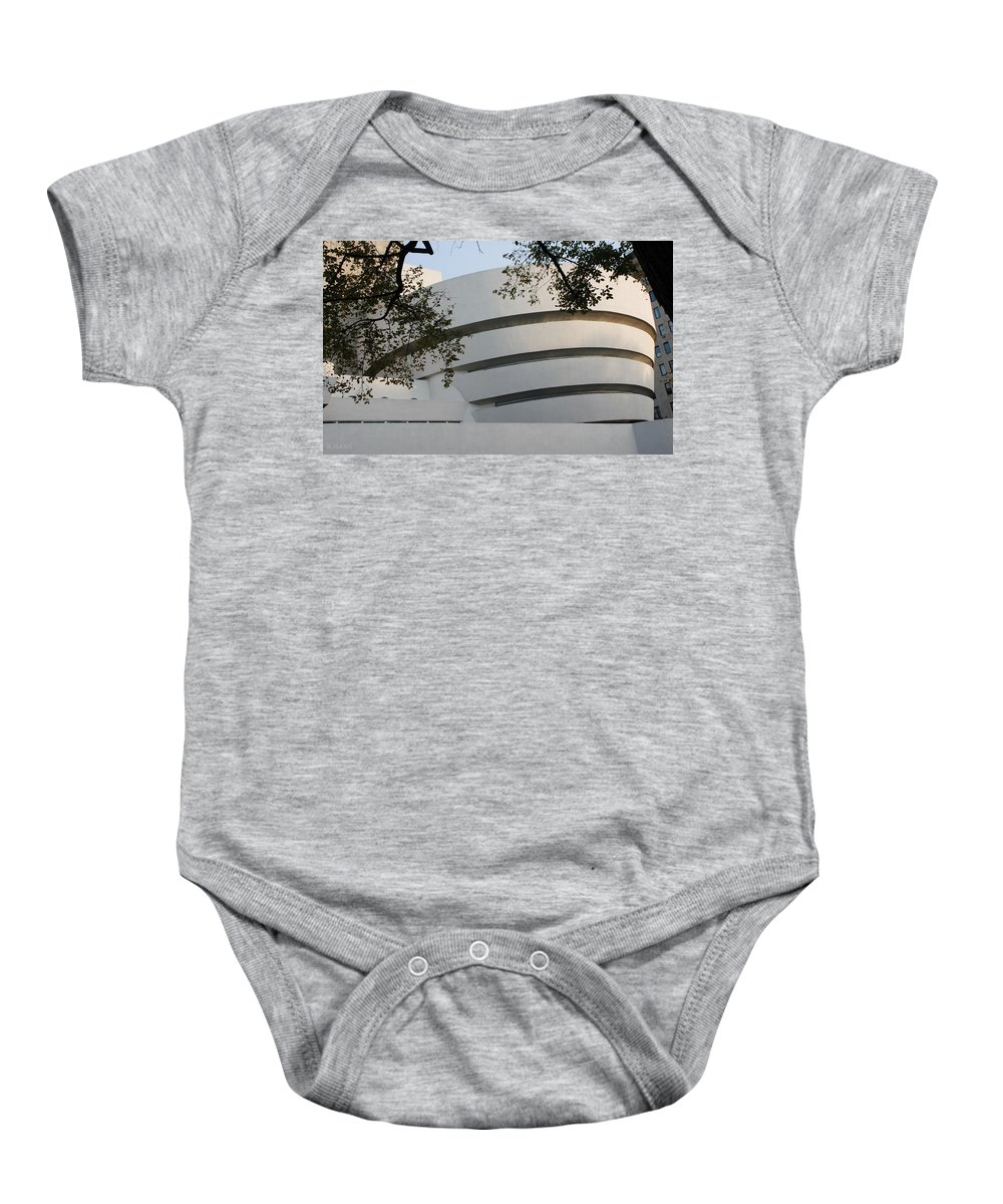 Scenic Baby Onesie featuring the photograph The Guggenheim by Rob Hans